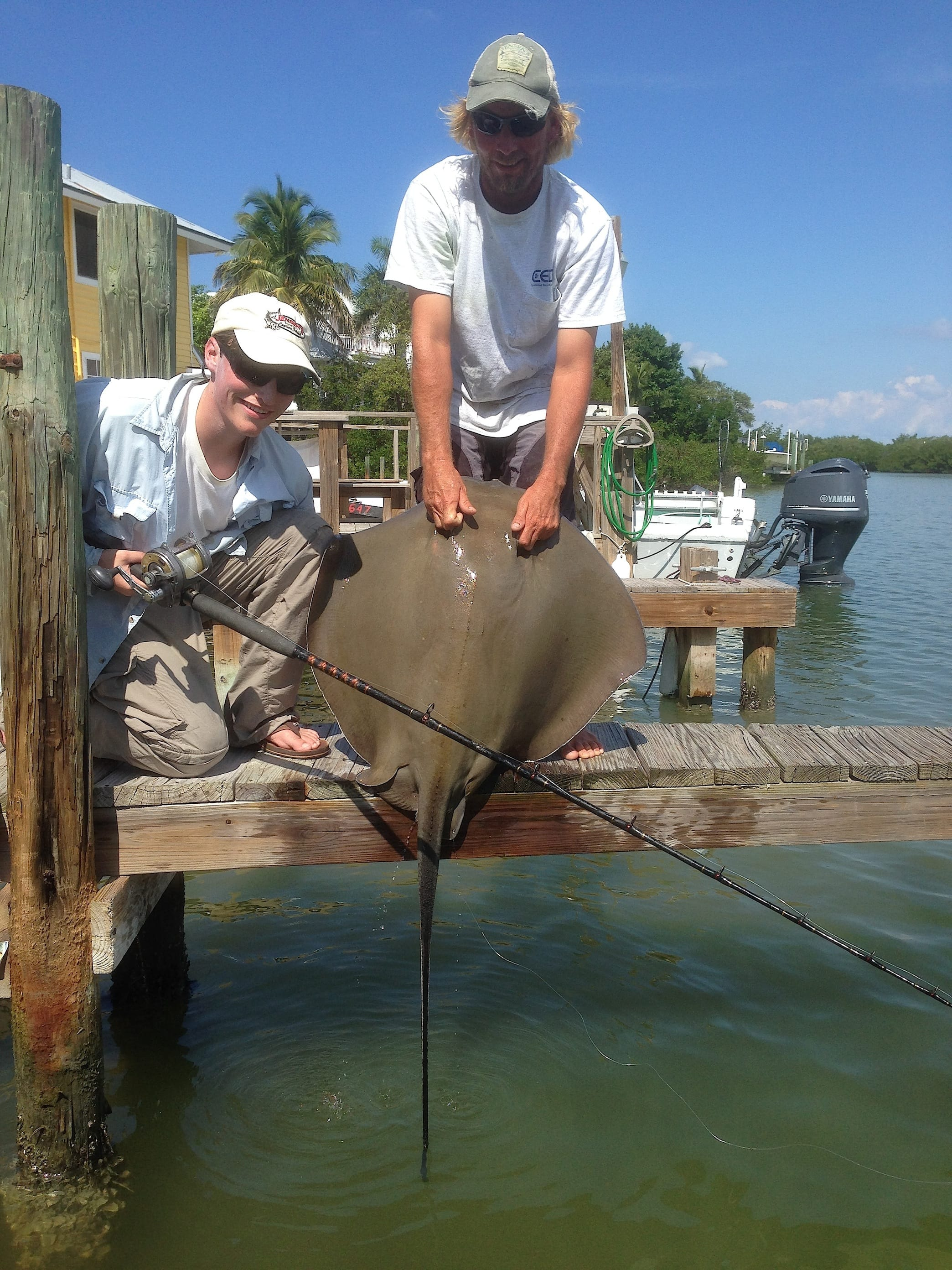 10 20 13 fort myers fishing report big stingray for Fishing charters fort myers